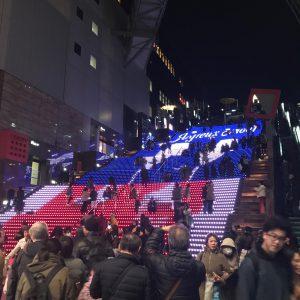 京都駅の大階段✨ミュージックに合わせて動いて、とっても綺麗です😆