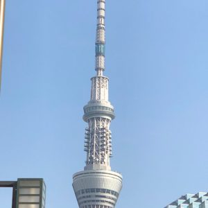東京スカイツリー★行けませんでしたが、遠目からでもきれいに見えました(*^_^*)
